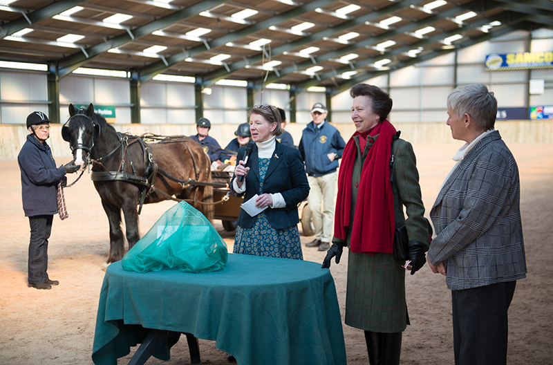 The Princess Royal officially opening the new RDA Cavalier Centre near Much Wenlock