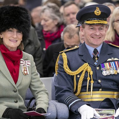 Lord-Lieutenant of Shropshire Anna Turner at RAF Shawbury - Mar 2019