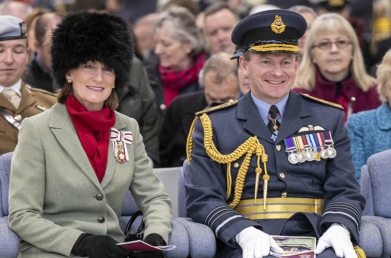 Lord-Lieutenant of Shropshire Anna Turner at RAF Shawbury - Mar 2019