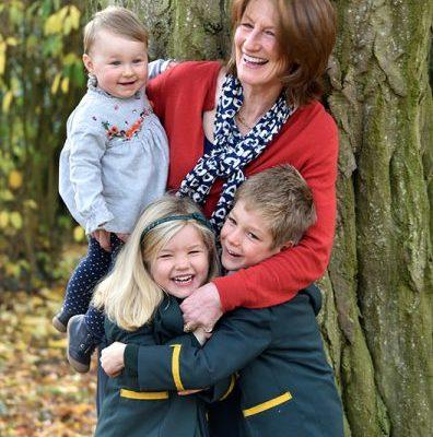 Lord Lieutenant of Shropshire Anna Turner with her grandchildren