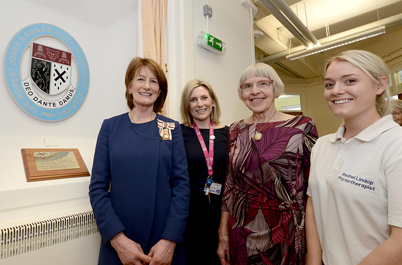 The Shropshire Lord-Lieutenant, Anna Turner at The Robert Jones and Agnes Hunt Orthopaedic Hospital