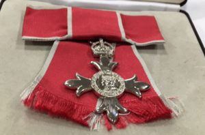 MBE honour award