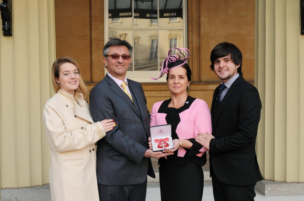 Deputy Lieutenant Mandy Thorn with her MBE
