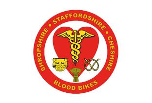 Shropshire, Staffordshire and Cheshire Blood Bikes logo