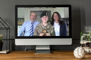 Cadet Sgt Abby Rooney from Whitchurch representing the Army Cadet Force