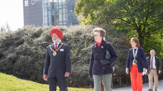 HRH Princess Royal with Anna Turner, Lord Lieutenant