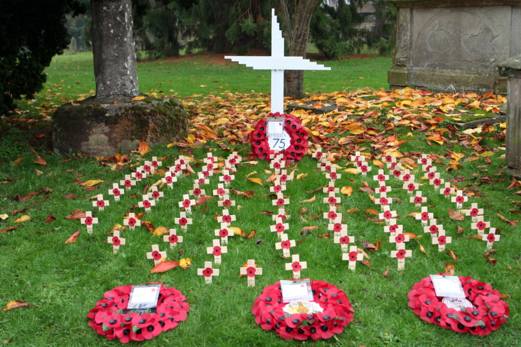 Much Wenlock wreath laying