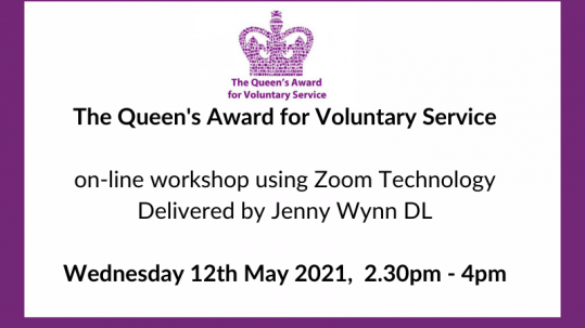 Queen's Award for Voluntary Service workshop