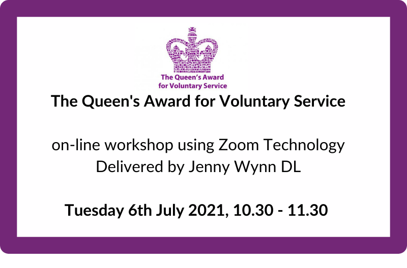 Queens's Award for Voluntary Service workshop