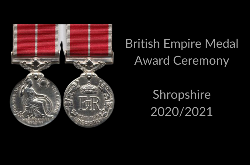 BEM Award Ceremony 2020/2021 Shropshire
