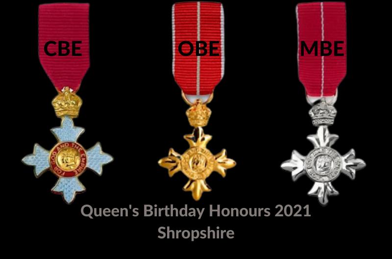 Queen's Birthday Honours 2021 - Shropshire