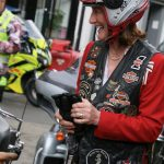 HM Lord-Lieutenant of Shropshire Anna Turner with members of the Wolverhampton Harley Davidson Chapter