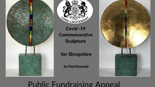 Covid-19 Commemorative Sculpture for Shropshire by Paul kennedy