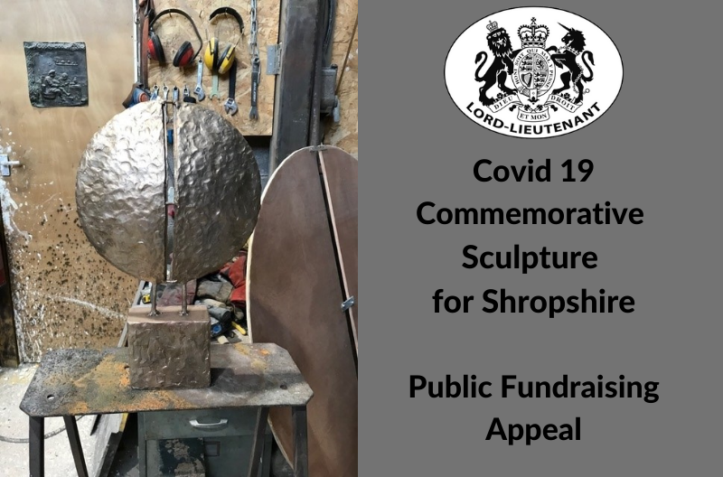 Covid 19 Commemorative Sculpture for Shropshire by Paul Kennedy, Fundraising Appeal