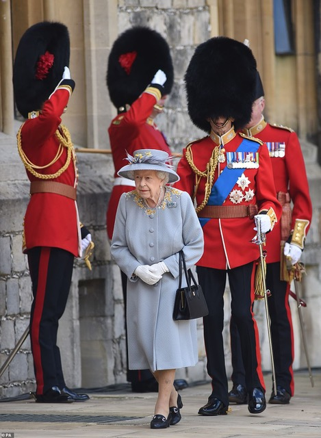 HM The Queen at Trooping of the Colour 2021