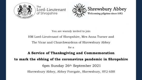 A service of Thanksgiving and Commemoration