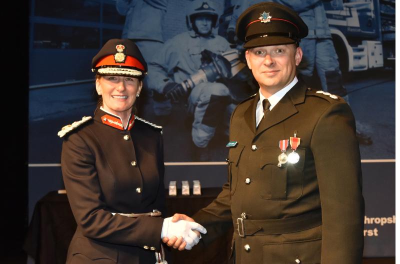 Lord-Lieutenant of Shropshire, Anna Turner at Shropshire Fire & Rescue Award Ceremony