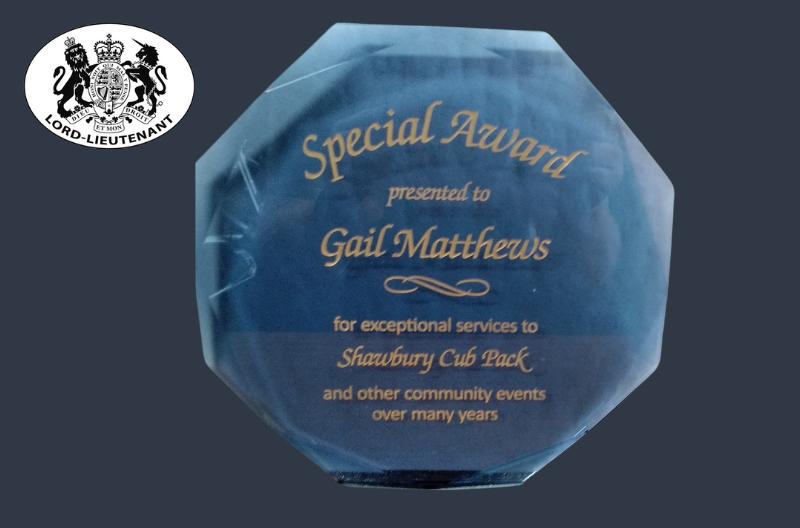 Special award for Gail Mathews